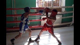 Юниорский бой/Junior fight,open ring in marneuli.Boxing