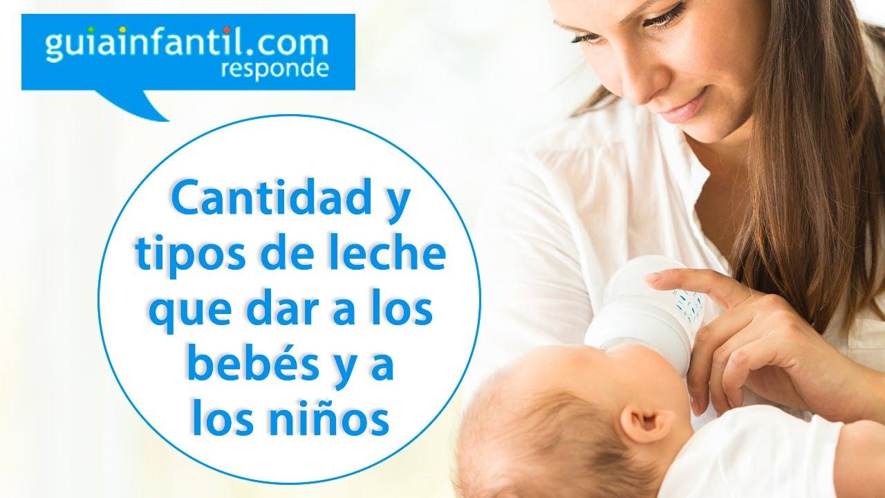 Qué cantidad de leche debe tomar un niño según su edad | Guiainfantil responde