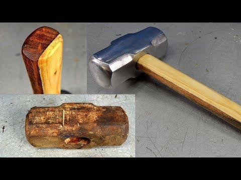 Eliminar el oxido de un martillo-2 hacemos el mango o astil