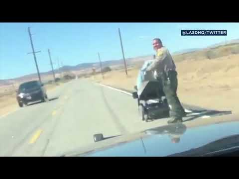 VIDEO: LA County deputies help woman stranded after motorized wheelchair runs out of power | ABC7
