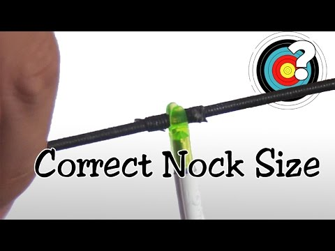 Archery | Arrow Nocks - Correct Size