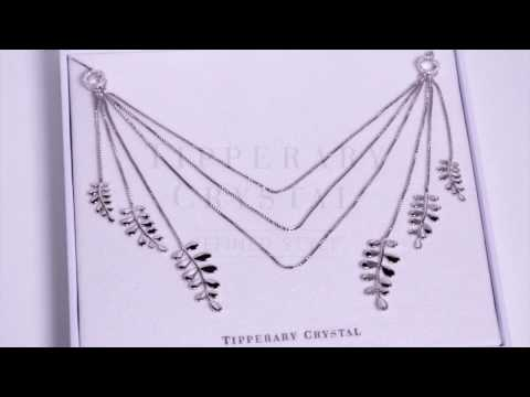 Silver Boho Leaf Statement Necklace
