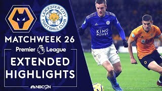 Wolves v. Leicester City | PREMIER LEAGUE HIGHLIGHTS | 2/14/2020 | NBC Sports