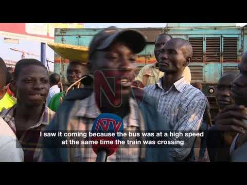 Train rams into bus at Nsambya crossing