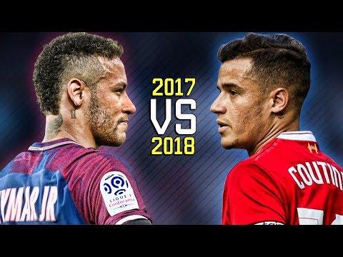 Neymar Jr vs Philippe Coutinho ● Skills Battle   Who's the most skillful? 2017/2018 HD