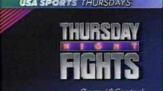 USA 1989 Thursday Night Fights Commercial