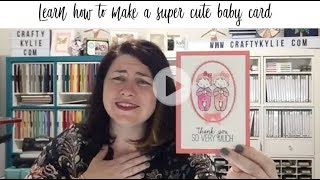 How to make a TWINS baby Card