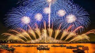 [4KUltraHD]桑名水郷花火大会20172尺玉17発!NTN100周年記念超特大仕掛花火-KuwanaSuigoFireworksFestival-