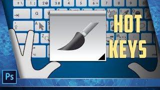 Горячие клавиши при работе с инструментом Кисть (Brush) в Photoshop/