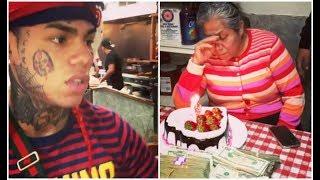 6ix9ine Mom Gets Emotional After Surprising Her $1M Cash For Bday