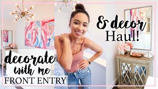 DECORATE WITH ME FRONT ENTRY | HOME GOODS DECOR HAUL | Alexandra Beuter