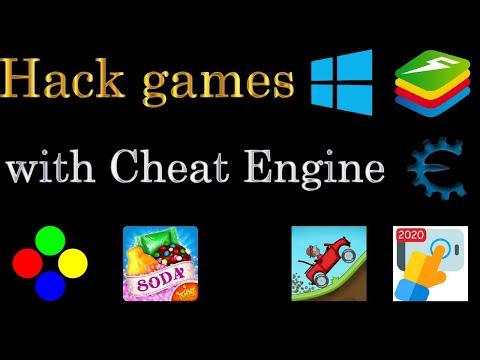 Hack games with Cheat Engine (Windows, Bluestacks)