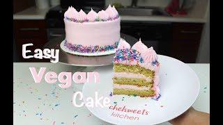 Easy Vegan Cake Recipe   CHELSWEETS