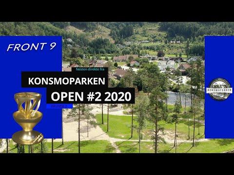 Konsmoparken Open 2020 | Frisbeegolf R2F9 | Peter Lunde, Dydland, Systad, Lindstad, Erland|Disc Golf