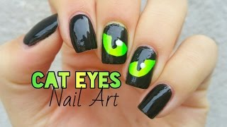 Spooky  Eyes Nail Art | Halloween Nails