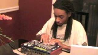 Mpc 1000  Beat Making - King I Divine making The Wish 2 (hip hop beats)