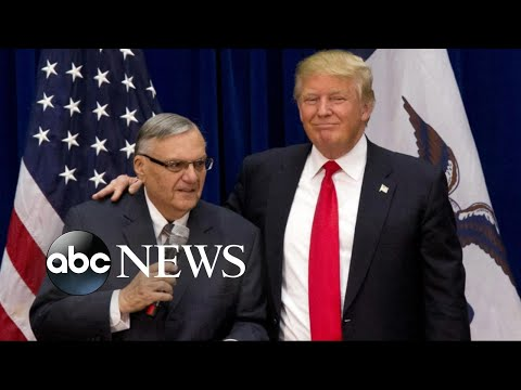 Backlash over Trump's pardon of Arpaio as Harvey hit Texas
