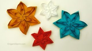 How to make a Tesselated Flower -ORIGAMI