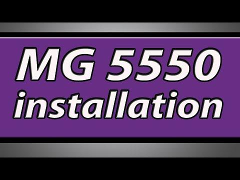 Canon Pixma MG5550 printer installation