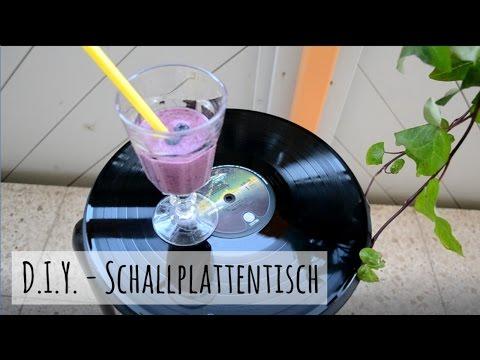 Schallplattenstuhl - Einfach mit altem Vinyl IKEA Hocher aufwerten