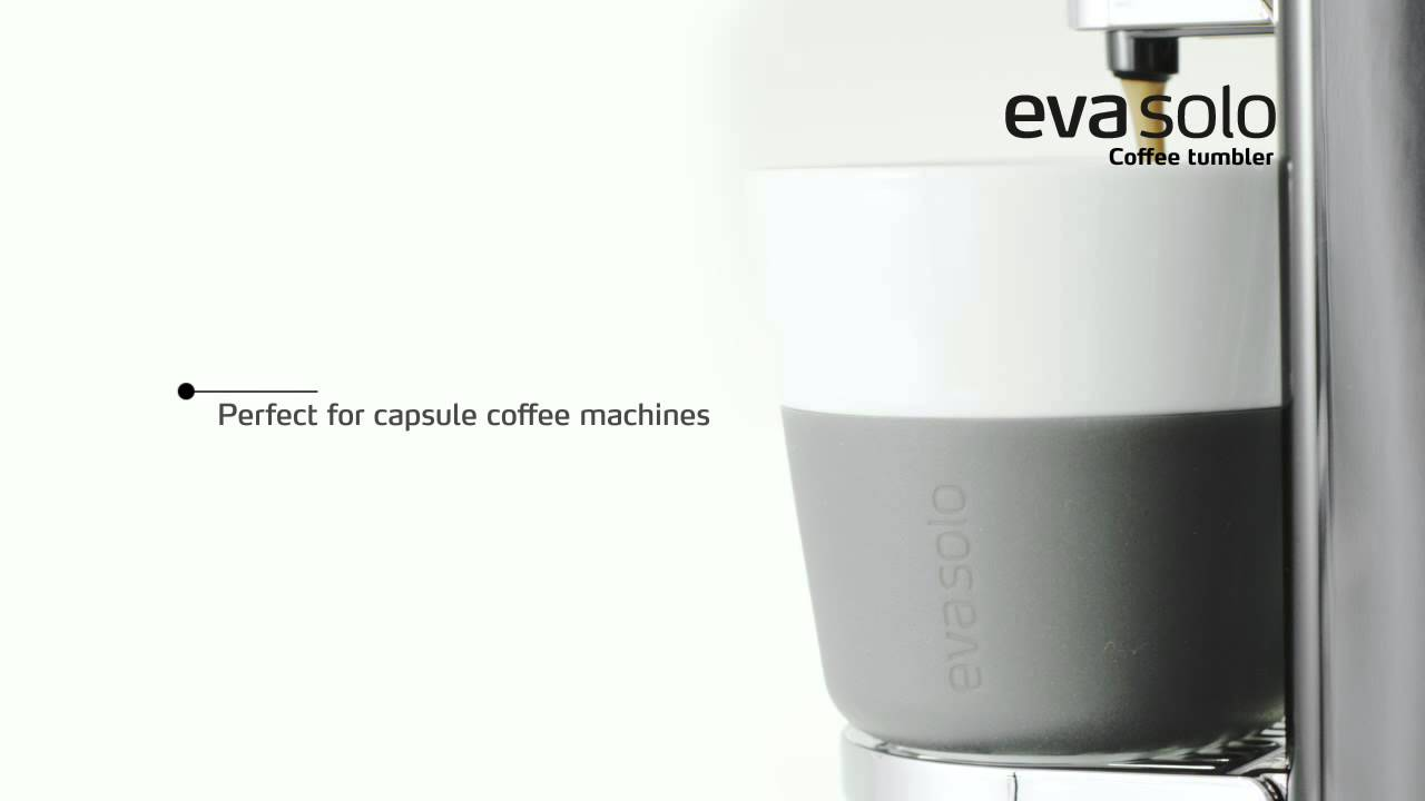 Video - Eva Solo latte beker 36cl - grijs - 2 stuks