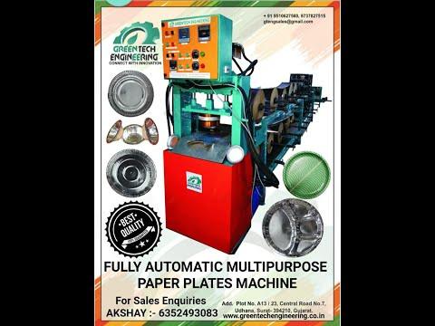 Hydraulic Auto 2 Die Paper Dish Making Machine