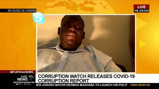 Corruption Watch's COVID-19 report: Melusi Ncala