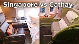 5-STAR AIRLINE SHOWDOWN: Singapore NEW Suites vs Cathay First Class!