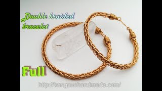 Double Braided Copper Wire Bracelet - Unisex Jewelry - Full Version ( Slow ) 374
