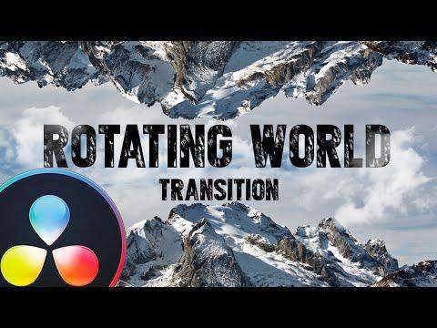 ROTATING WORLD Transition - Davinci Resolve tutorial