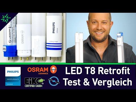 Test + Vergleich: Der beste LED Ersatz für T8 Leuchtstofflampen: Retrofit Osram, Philips,Eiko,Ledora