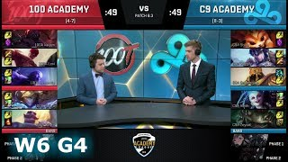 100 Thieves Academy vs Cloud 9 Academy | Week 6 of S8 NA Academy League Spring 2018 | 100A vs C9A