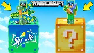SFIDA dei LUCKYBLOCK della SPRITE GIGANTI - Minecraft ITA