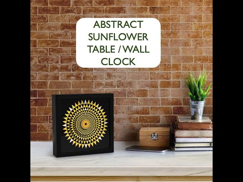 Abstract Sunflower Mandala Floral Design Geometry Plant Art Table/Wall Clock Home Decor Silent Movement