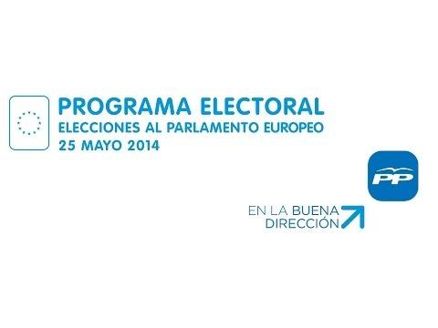 El programa electoral del PP es seguir En La Buena Dirección