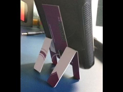 Cómo se hace un Soporte para móvil con una tarjeta de crédito - Reciclar
