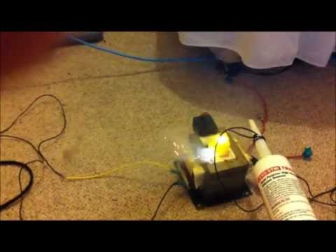 High Voltage Microwave Oven Transformer (MOT) Stupidity - Roasting A Potato