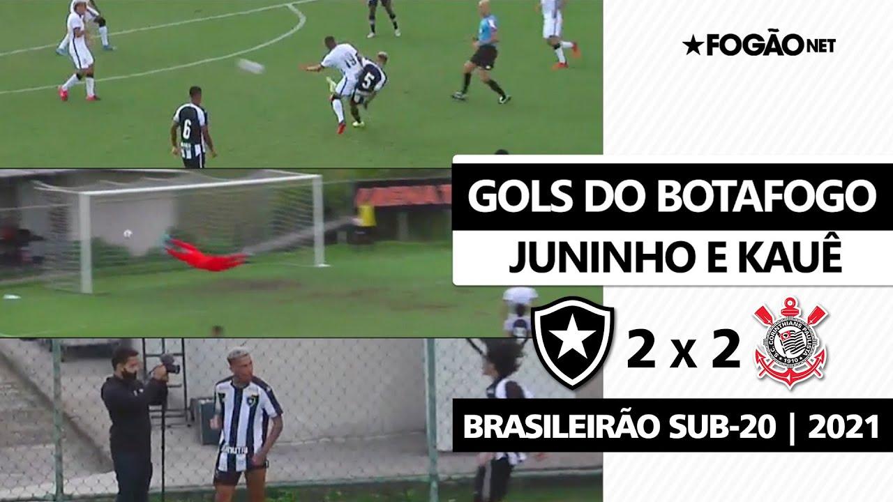 Kauê, de 17 anos, faz belíssimo gol de fora da área, e Botafogo arranca empate contra o Corinthians no Brasileirão Sub-20 ⚽🔥