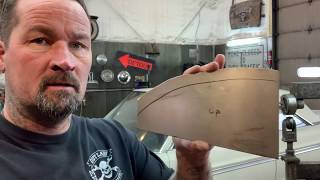 Metal Shaping: Forming a curved panel with a flange