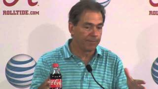 Nick Saban expresses frustration with expectations after Arkansas win