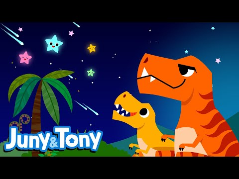 JunyTony Dinosaur Songs Episode 5 | Dinosaur Lullaby | T-Rex and Maiasaura Sing a Bedtime Song