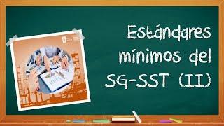 Estándares mínimos del SGSST parte 2