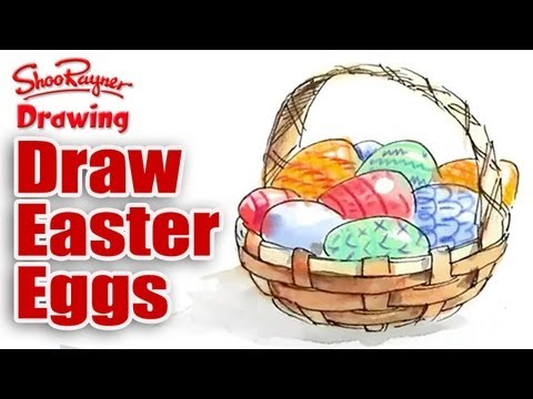Draw lots of easter stuff shoo rayner author how to draw a basket of easter eggs negle Gallery
