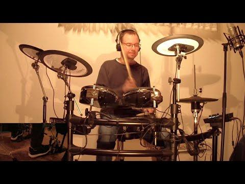 Schlagzeug lernen Fortgeschrittene: Rhythmische Verschiebung der Bass Drum und Snare Drum auf Klick