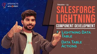 Lightning Component Development Day13 - Lightning Data Table, Data Table Actions