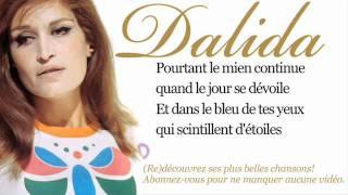 Dalida - Dans le bleu du ciel bleu - Paroles (Lyrics)