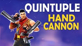 QUINTUPLE HANDCANNON | HANDCANNON ONLY CHALLENGE | 5 DEAGLES - (Fortnite Battle Royale)