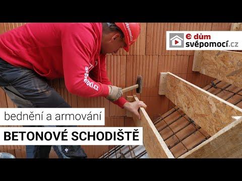 CEMEX: Montáž bednění a betonování schodiště