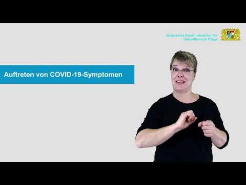 Quarantäne von Kontaktpersonen der Kategorie I und von Verdachtspersonen, Isolation von positiv auf das Coronavirus getesteten Personen (AV Isolation) - in Deutscher Gebärdensprache