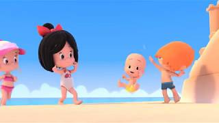 A DAY AT THE BEACH. Cleo And Cuquin In English. Episode 11